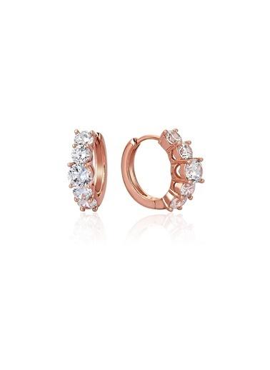 Tophills Diamond Co. 1,60 Ct Pırlanta Efekt Altın Valentina Beştaş Roz Küpe Renkli